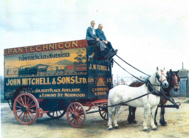 historical richard mitchell moving wagon