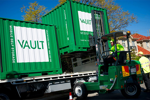 Vault mobile self storage containers